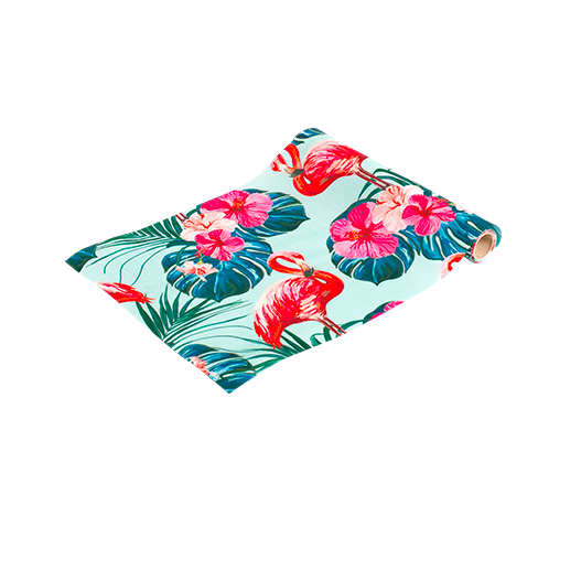 Chemin De Table Flamant Rose Multicolore