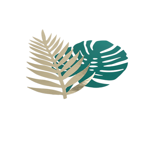 Feuille Tropicale Papier Monstera Or x6