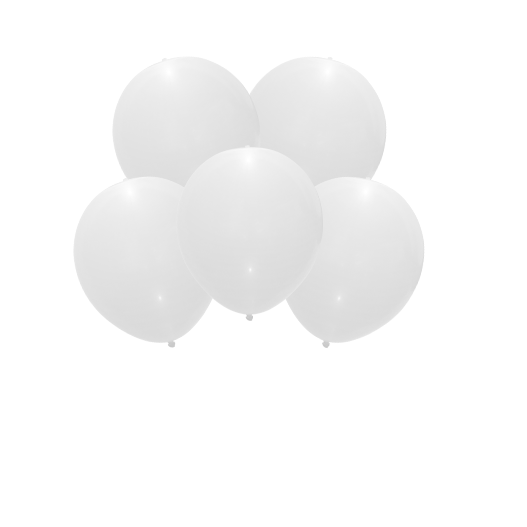 Ballon Led Latex Blanc x5