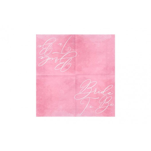 Serviette Papier Bride to Be Rose x20