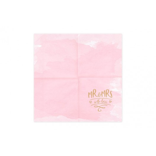 Serviette Papier Mr & Ms Rose x20