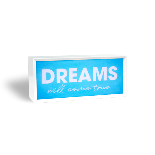Lightbox On Dreams Bleu 9 cm