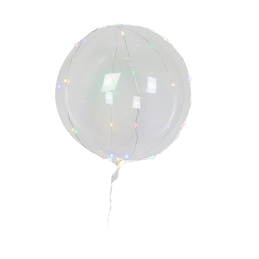 Ballon Transparent Led 30 Micro Leds Couleur 45 cm