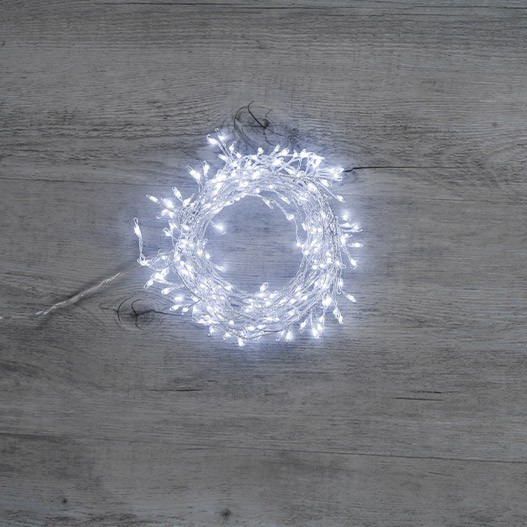 Cluster 240 Micro-Led Argent Blanc Froid 2m40