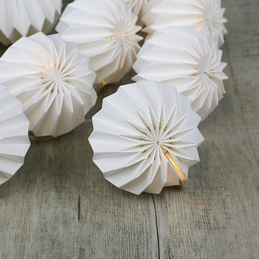 Guirlande Lumineuse Origami Blanche