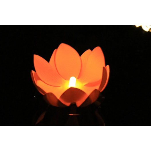 Orange Nymphea LED Water Lantern
