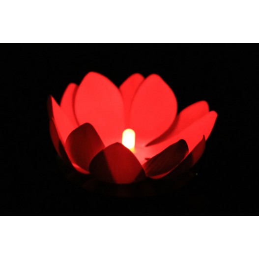 Red Nymphea LED Water Lantern