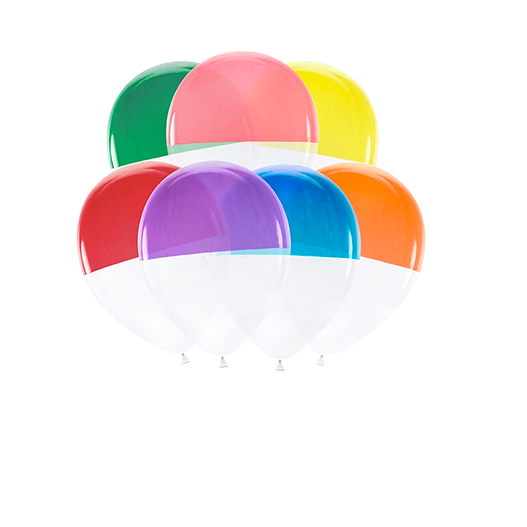 Ballon Bicolore Latex Multicolore x7