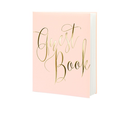Livre D'Or Guest Book Rose 24,5 cm