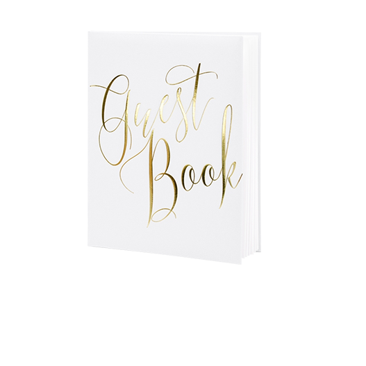 Livre D'Or Guest Book Blanc 24,5 cm