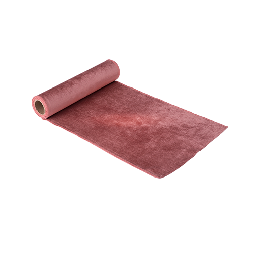Chemin De Table Velours Rose 2,5 m