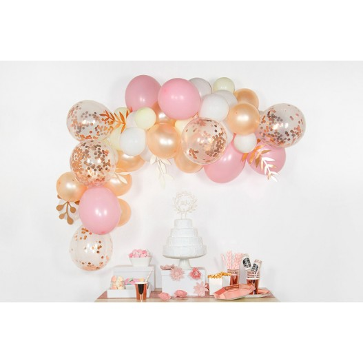 Arche De Ballon Rose Gold 2 m x50