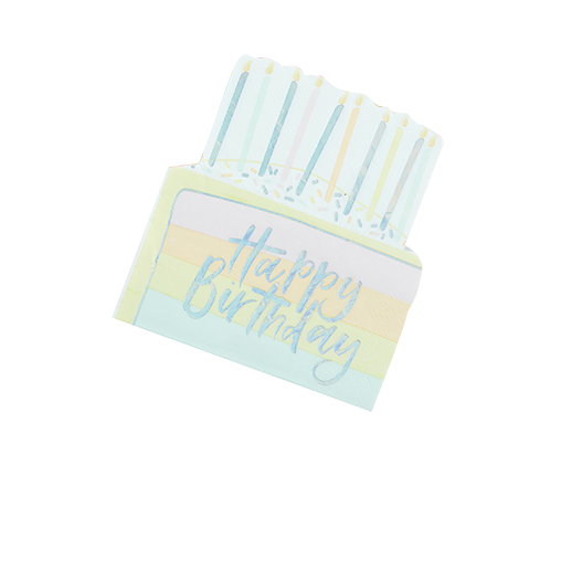 Serviette Papier Happy Birthday Pastel x16