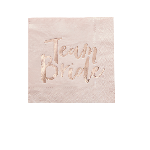 Serviette Papier Team Bride Rose et Rose gold x20