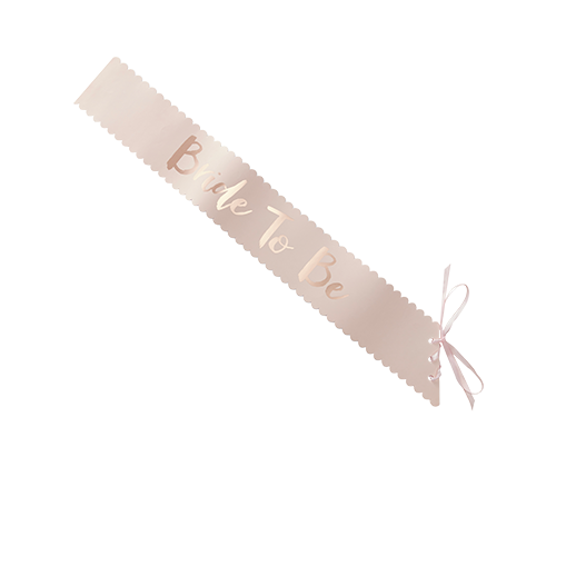 Echarpe Papier Bride to Be Rose gold et rose x5