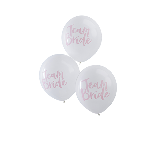 Ballon Latex Team Bride Blanc et Rose x10