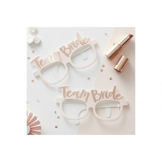 Lunettes Photobooth Team Bride Rose x8