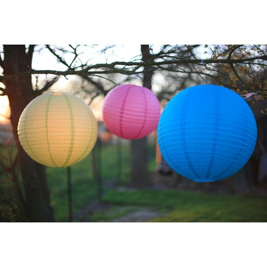 Royal Blue Round Paper Lantern 4""