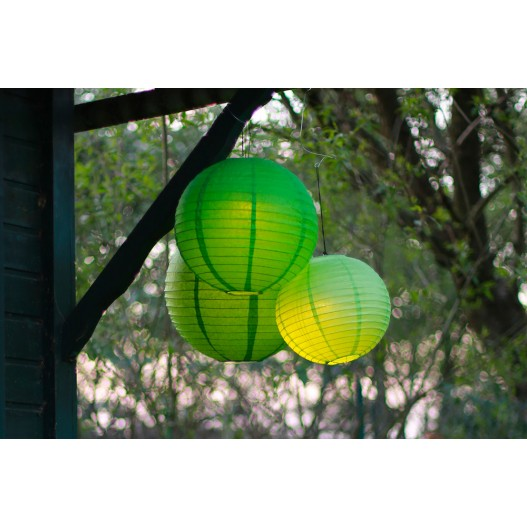Apple Green Round Paper Lantern 8""