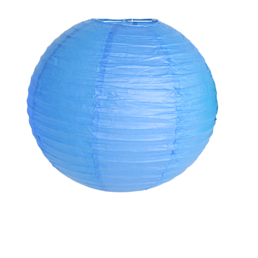 Royal Blue Round Paper Lantern 16""