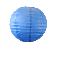 Royal Blue Round Paper Lantern 8""