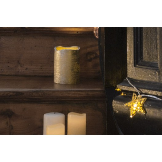 """Silver Frostfire Moon Candle 4"""""""