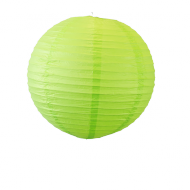 Apple Green Round Paper Lantern 12""