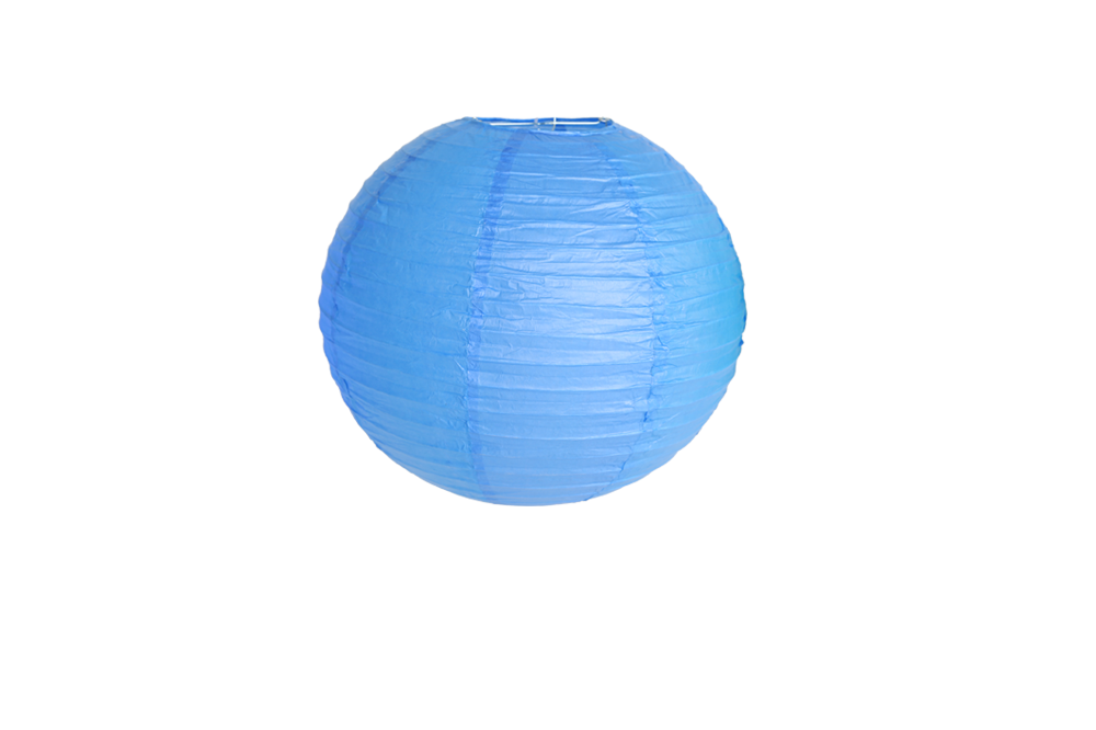 suspension boule papier couleur bleu roi 40 cm skylantern fr. Black Bedroom Furniture Sets. Home Design Ideas