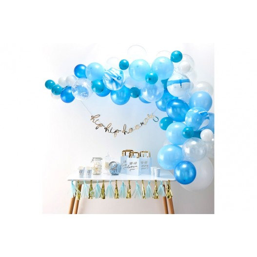 Arche De Ballon Latex Bleu x70