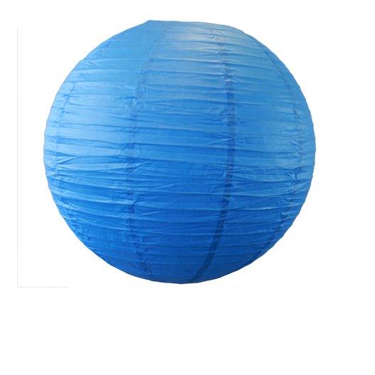 Royal Blue Round Paper Lantern 20""