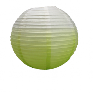 Apple Green Round Paper Lantern Tie & Dye 16""