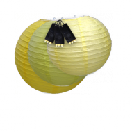 Yellow Paper Lantern Lights