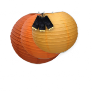 Orange Paper Lantern Lights