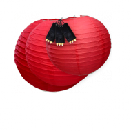 Red Paper Lantern Lights