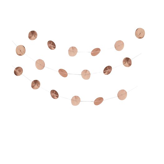 Guirlande Papier Ronds Rose Gold