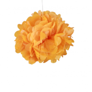 "Orange Paper Pom Poms 8"" x2"