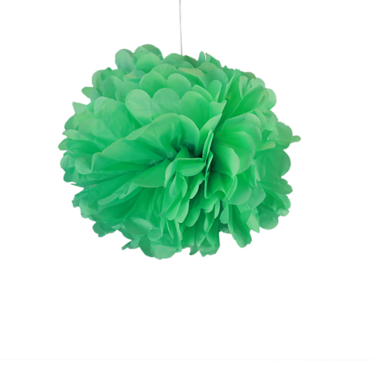 pompons en papier de soie d co vert d 39 eau 20 cm x2 skylantern fr. Black Bedroom Furniture Sets. Home Design Ideas
