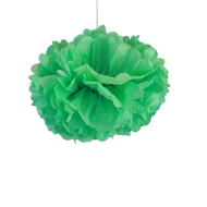 "Sea Green Paper Pom Poms 12"" x2"