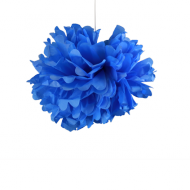 "Royal Blue Paper Pom Poms 12"" x2"