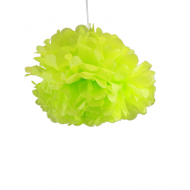 "Apple Green Paper Pom Poms 12"" x2"