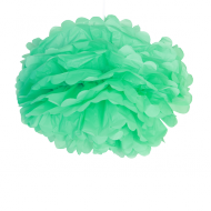 "Sea Green Paper Pom Poms 16"" x2"