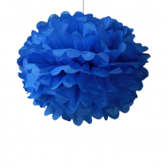 "Royal Blue Paper Pom Poms 16"" x2"