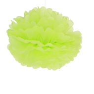 "Apple Green Paper Pom Poms 16"" x2"