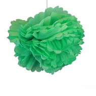 "Sea Green Paper Pom Poms 20"" x2"