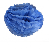 "Royal Blue Paper Pom Poms 20"" x2"