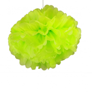 "Apple Green Paper Pom Poms 20"" x2"