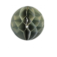 Grey Honeycomb Paper Ball 8""