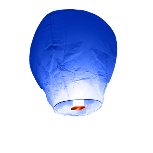 Royal Blue Sky Lantern
