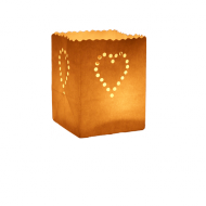 White Heart Candle Bag Maya Medium Size x5