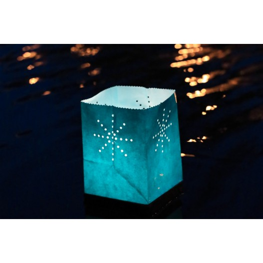 Turquoise Floating Tulum Candle Bag